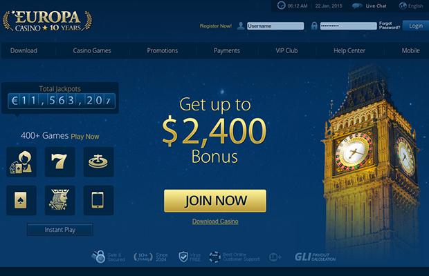 промокод для казино европа