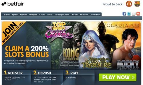 Betfair Casino Website
