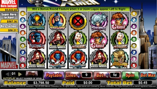 X-Men Slot Machine