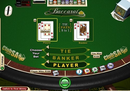 Online Baccarat Table