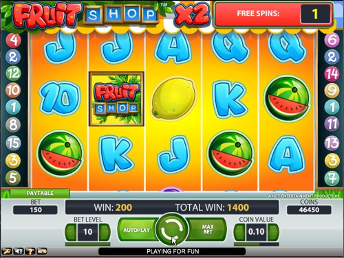 Play Fruit Shop online slots at Casino.com New Zealand