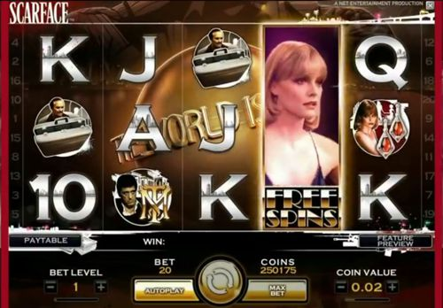 Scarface Video Slot Game