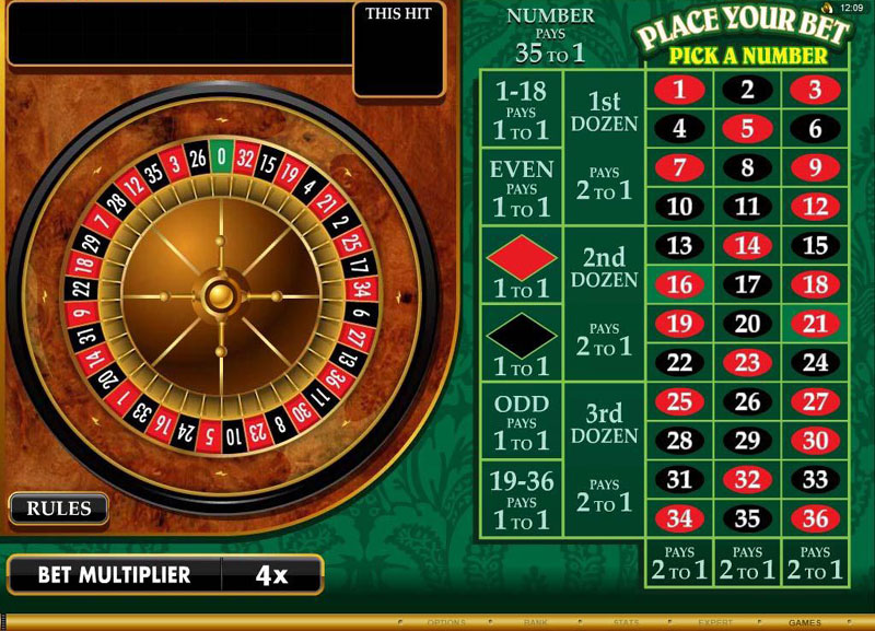play video roulette online