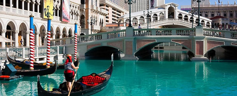 Gondola Ride at the Venetian Luxury Hotel and Casino